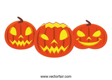 halloween pumpkins with faces icons