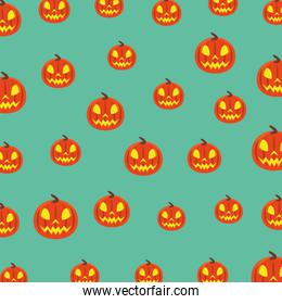 halloween pumpkins with faces pattern