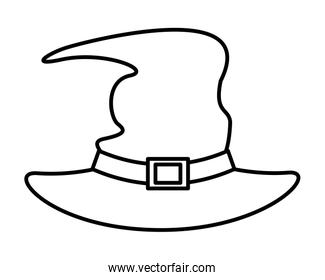 halloween witch hat accessory icon