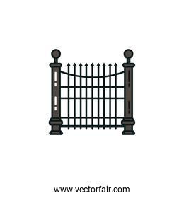 halloween fence gate flat style icon