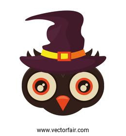 halloween owl with witch hat