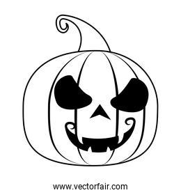 halloween pumpkin with face icon