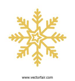 snowflake christmas decoration isolated icon