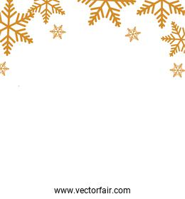 snowflakes christmas decoration isolated icon