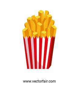 delicious french fries fast food isolated icon