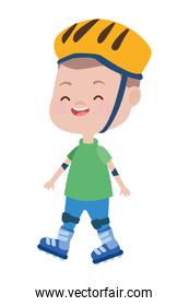 cute little boy with skates character