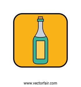 champagne bottle drink isolated icon