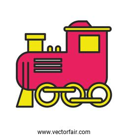 little train toy isolated icon