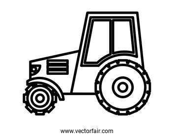 tractor farm vehicle isolated icon