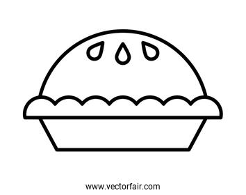 sweet pie pastry isolated icon