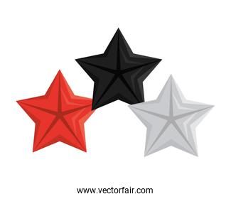 quality stars commercial isolated icons