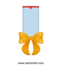 smartphone device with ribbon bow