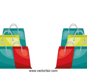 shopping bags papers marketing icon