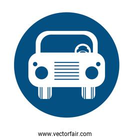 car vehicle flat style icon