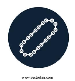 car chain assembly piece flat icon
