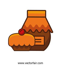 thanksgiving preserve jar isolated icon