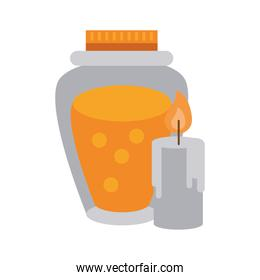 thanksgiving honey in preserve jar isolated icon