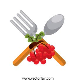 fork and spoon cutleries icon