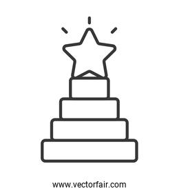 stair with star award icon