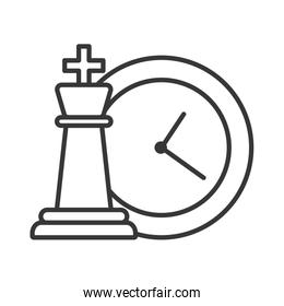 chess piece game with time clock