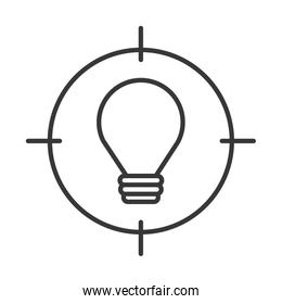 bulb light with target icon
