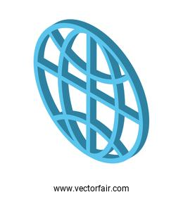 sphere browser globe isolated icon