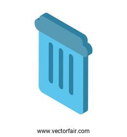 garbage pot waste isolated icon