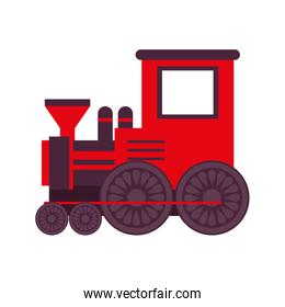 cute little train toy isolated design