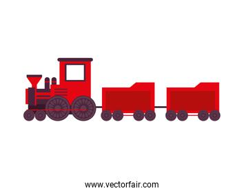 cute little train toy isolated icon