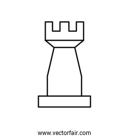 tower chess piece isolated icon