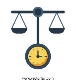 time clock watch with equality balance