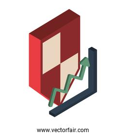 financial statistics graphic isolated icon