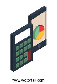 calculator math and smartphone devices