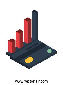 financial statistics bars graphic isolated icon