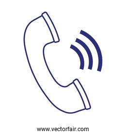 telephone call service support isolated over white