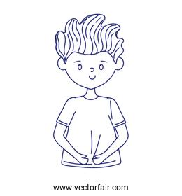 young man cartoon character isolated icon on white background