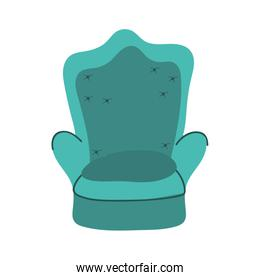 green chair comfort furniture isolated icon on white background