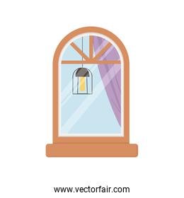 window lamp facade exterior building isolated icon white background