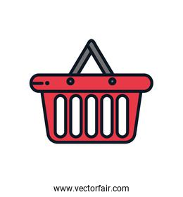 shopping bag icon, color line style