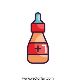 feeding bottle icon, line color style