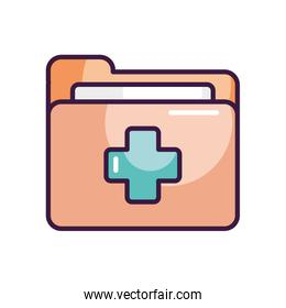 medical report folder icon, line color style