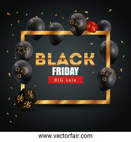 poster black friday with big offer lettering