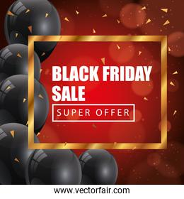 poster black friday poster with super offer lettering