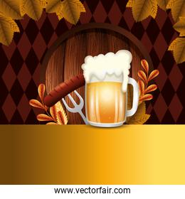 Germany oktoberfest beer vector design