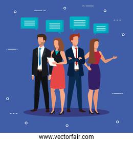 meeting of business people talking avatar character