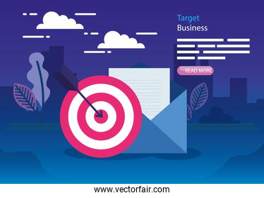 Target and envelope card vector design
