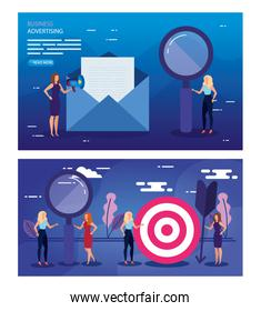 Target envelope and people vector design