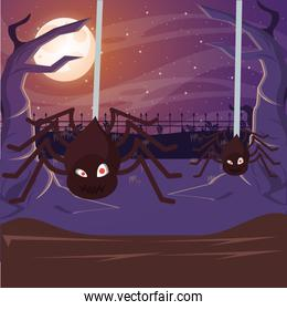 halloween dark cartel with spider insect