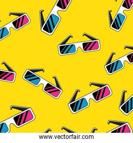background of glasses accessory of nineties retro style