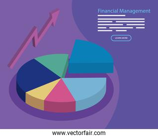 financial management with infographic and arrow up